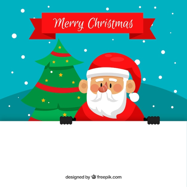 Santa claus background with poster