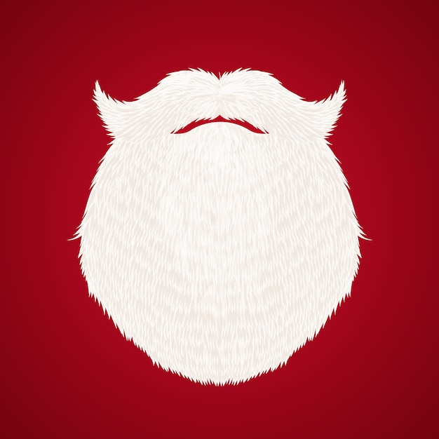 1f794623183d8 Santa claus beard on red background Free Vector