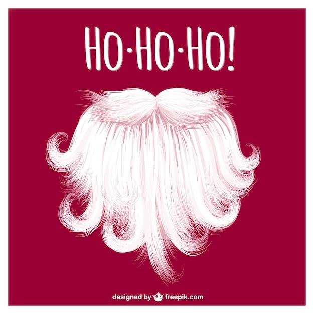 Santa Claus Beard Vector Vector Free Download