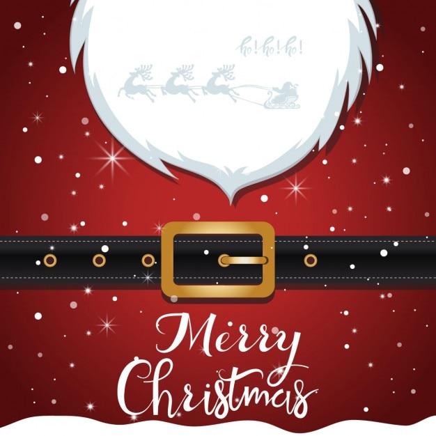 Santa claus christmas background Free Vector