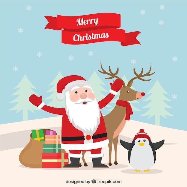 Santa claus christmas greeting cartoon vector premium download santa claus christmas greeting cartoon premium vector m4hsunfo