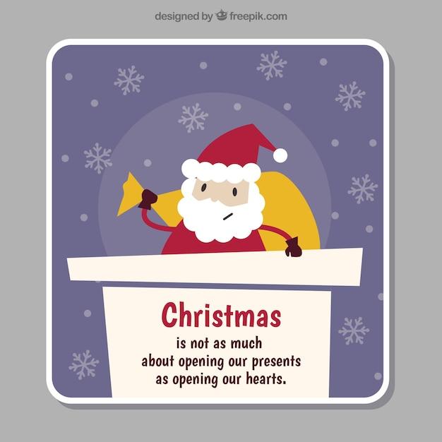 Santa claus christmas greeting on the chimney Free Vector