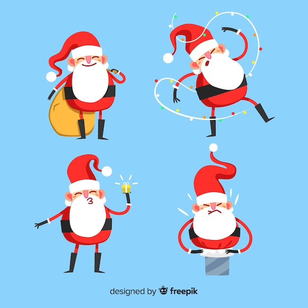 Santa claus collection Free Vector