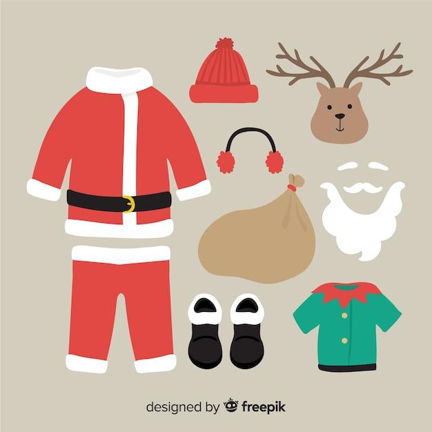 Santa claus equipment Free Vector