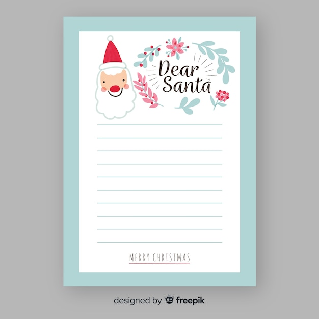 Santa Claus Hand Drawn Letter Template Vector Free Download