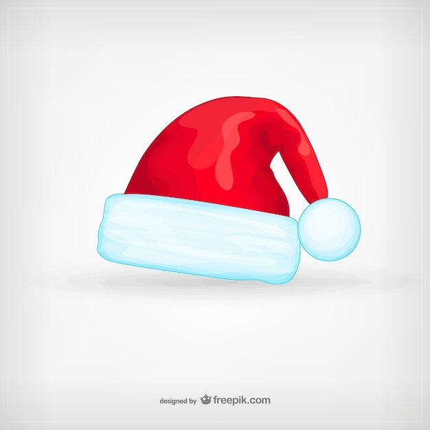 Santa claus hat cartoon vector free download