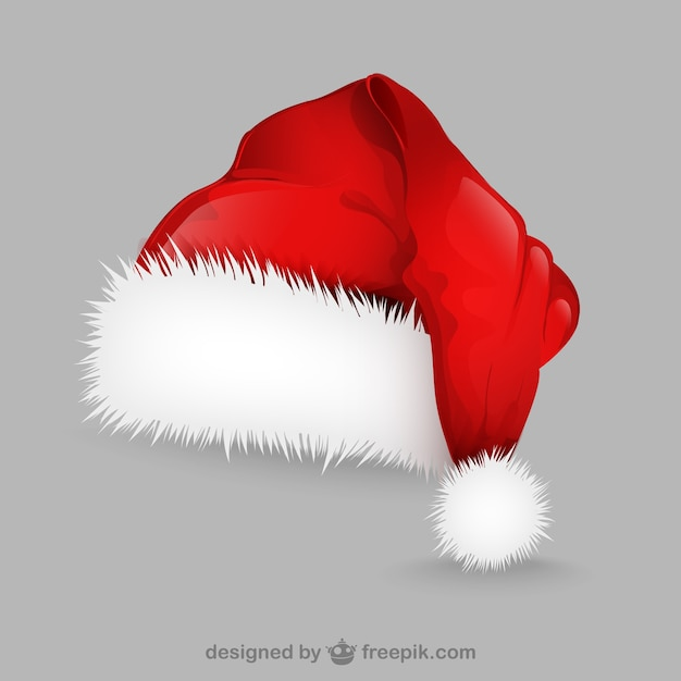 Santa claus hat illustration vector free download