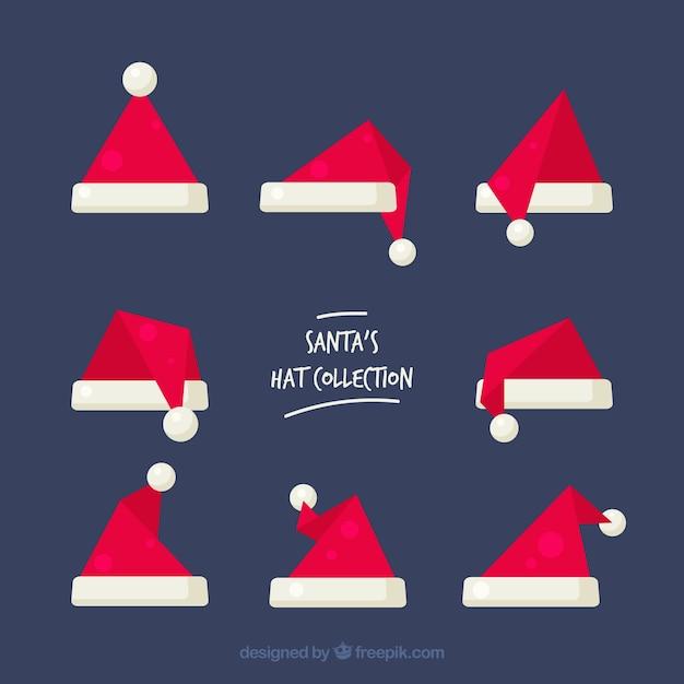 Santa claus hat set Free Vector