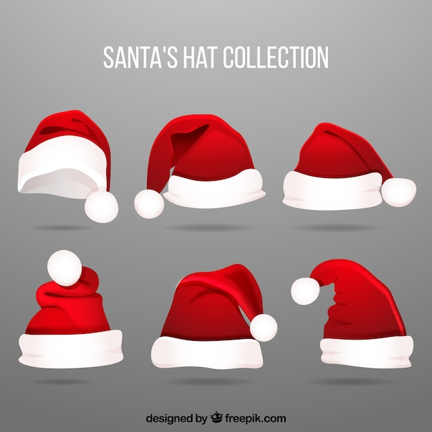 Santa claus hat set Free Vector