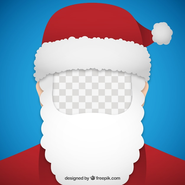 Santa Claus Picture Frame Vector Free Download