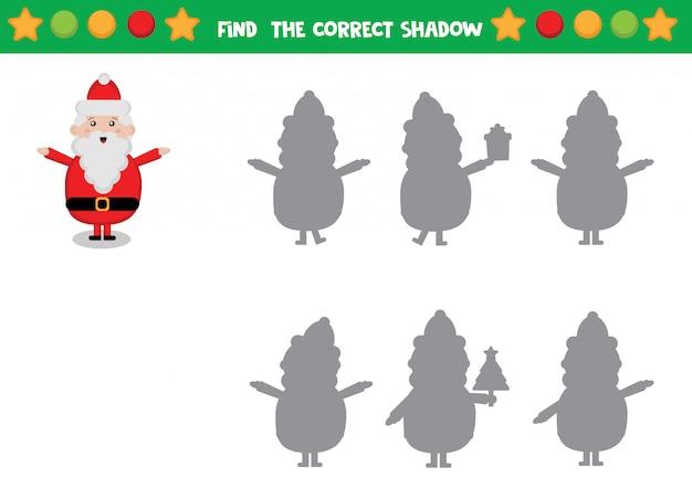 Santa claus shadow Premium Vector