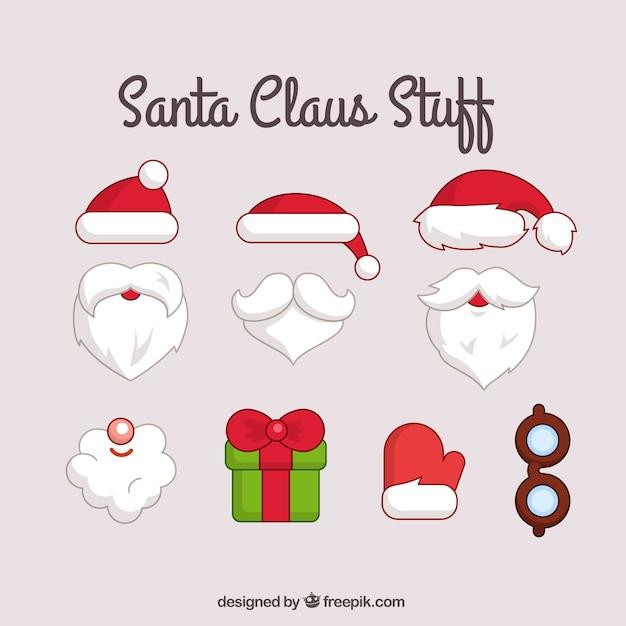 Vintage Santa Claus Face Clipart -