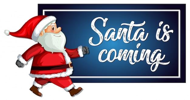 Free Vector | Santa is coming template