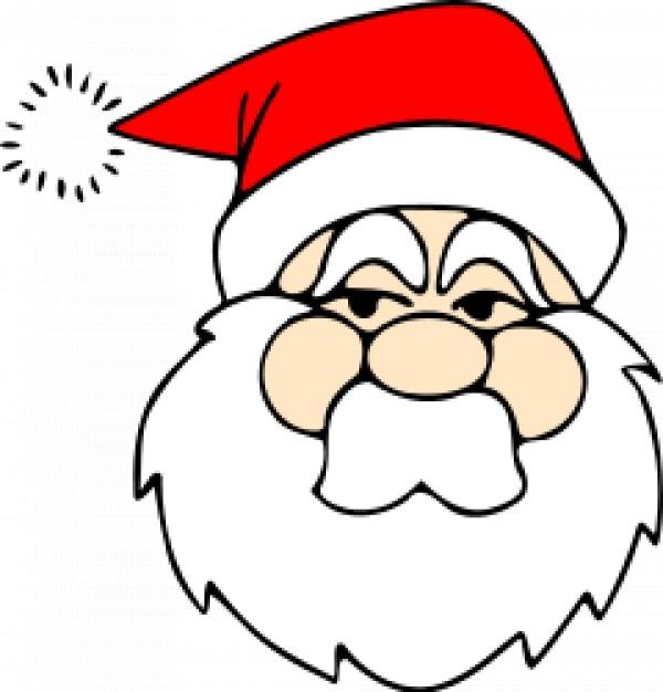 Line Art Download Free : Santa line art vector free download
