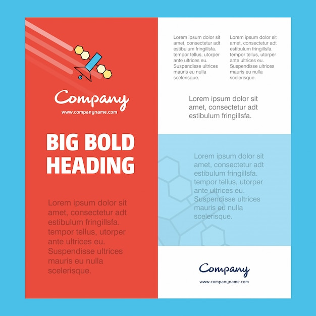 Satellite company business poster Free Vector