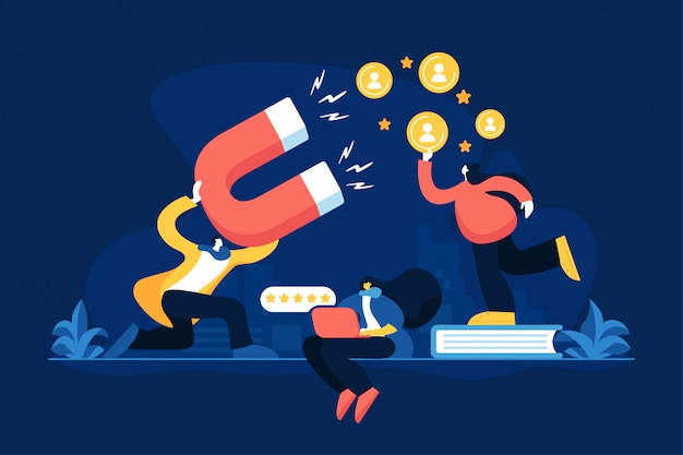 Satisfaction and loyalty concept vector illustration Premium Vector