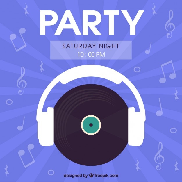 Saturday night party flyer Vector | Free Download