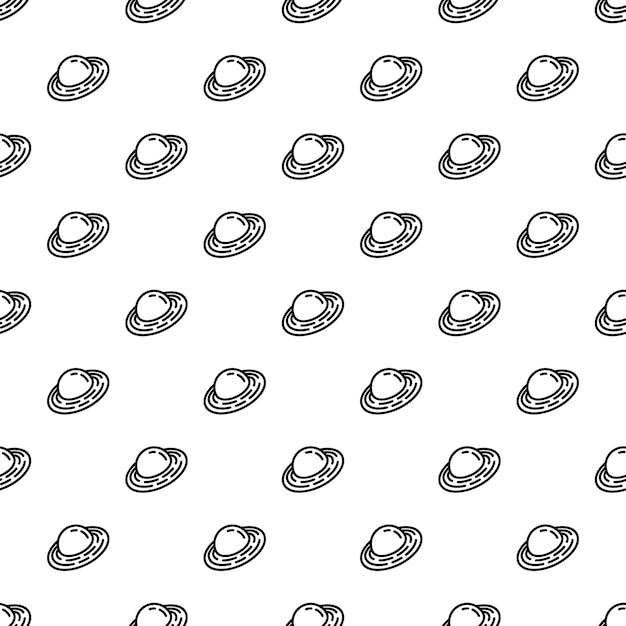 Saturn planet pattern seamless Premium Vector