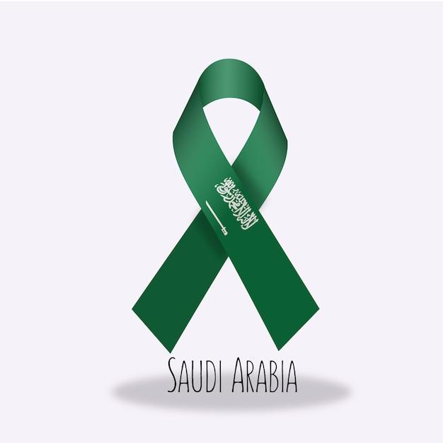Disegno nastro bandiera arabia saudita Vettore gratuito