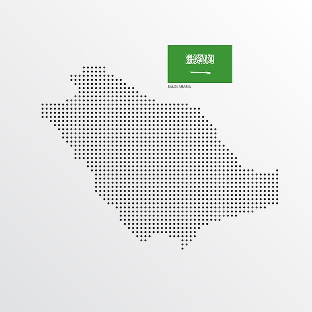 Saudi Arabia Map design Vector Free Download