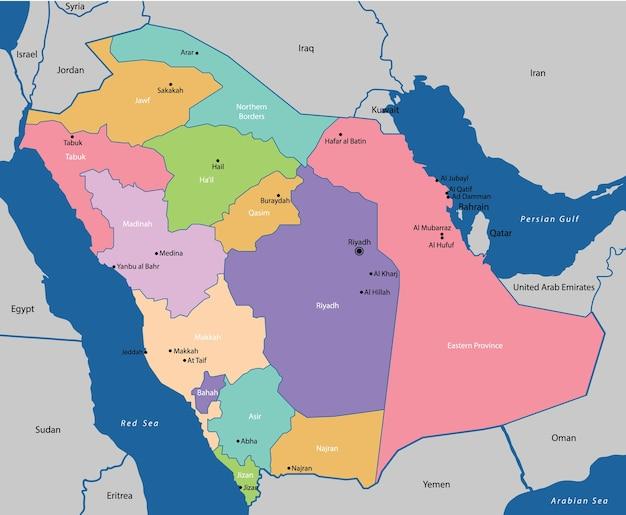 Saudi arabia map Vector | Premium Download