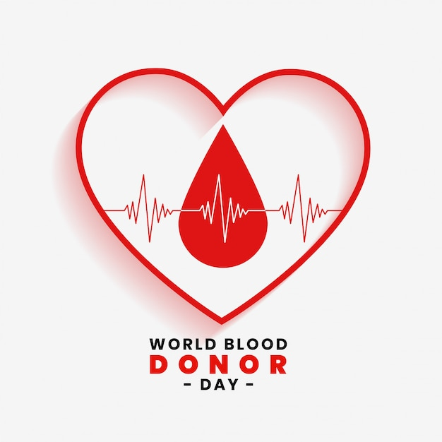 Save blood concept for world blood donor day Free Vector