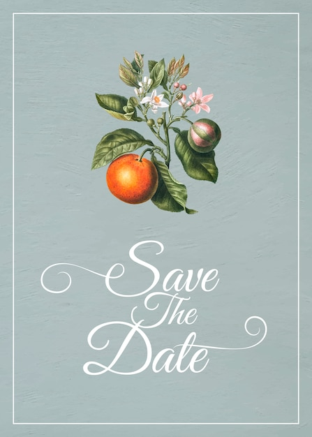 Save the date card Free Vector