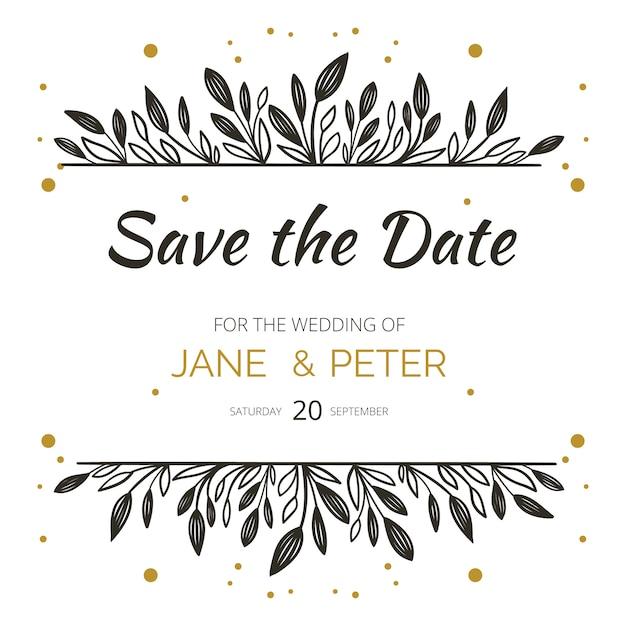 Save the date invitation Premium Vector