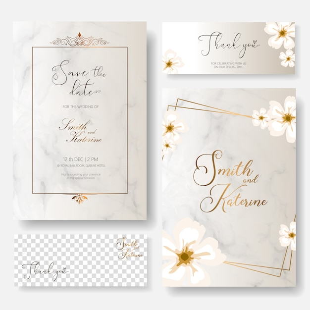 Save the date special day wedding anniversary card Premium Vector