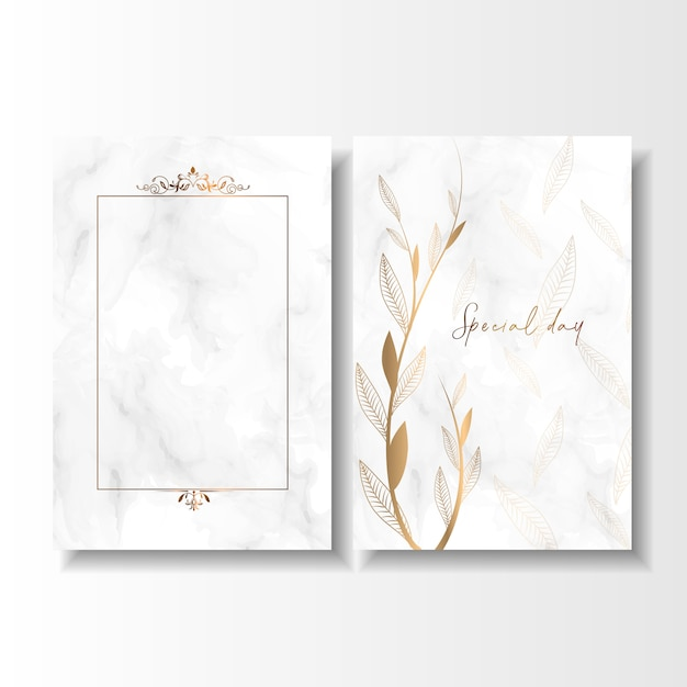 Save the date special day wedding birthday card Premium Vector