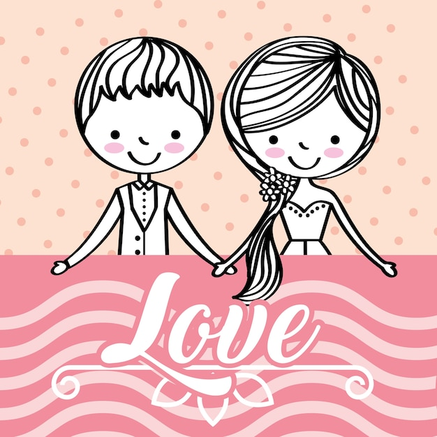 Save the date wedding Premium Vector