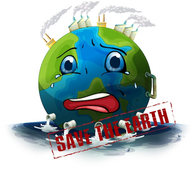 Save the earth Free Vector