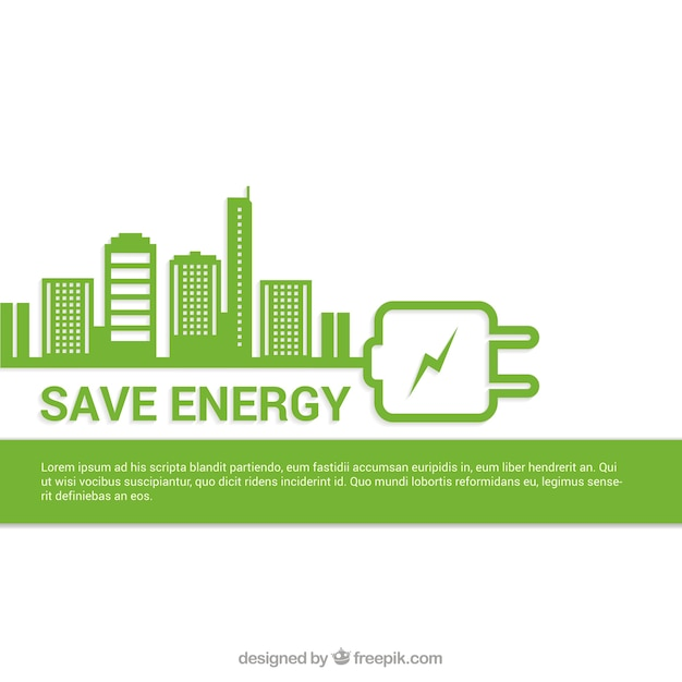 Save Energy Background Vector