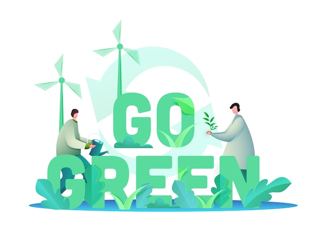 Save environment concept Premium Vector