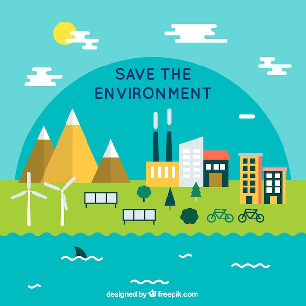 Download This Free Vector Save The Environment