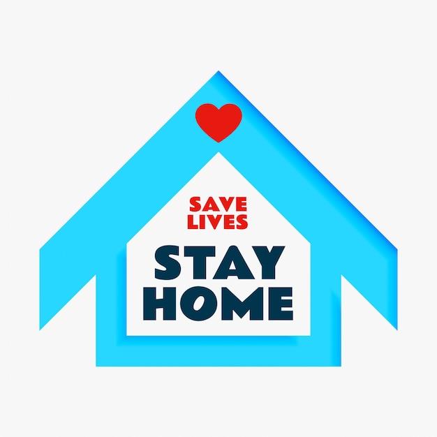 Спасите жизни и оставайтесь дома постер Бесплатные векторы