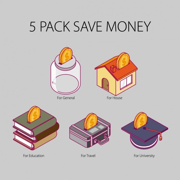 Save money icons pack