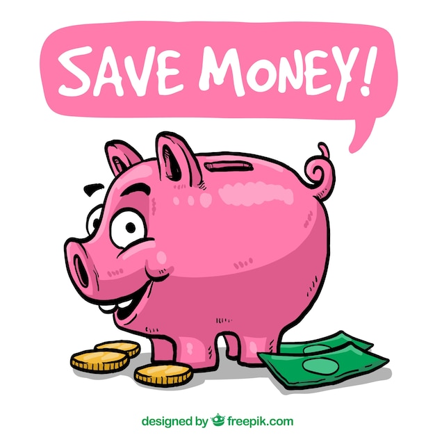 Save Money Illustration Free Vector