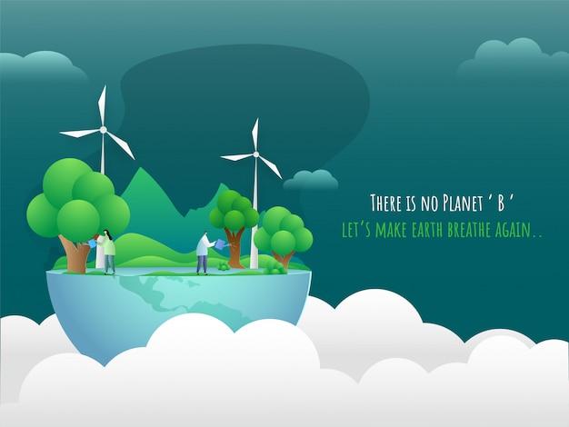 Save nature concept. Premium Vector