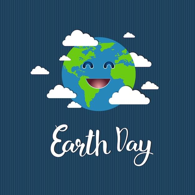 Открытка ко дню земли, save planet event Premium векторы