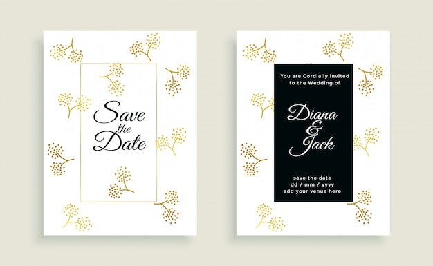 날짜 아름다운 웨딩 카드를 저장 무료 벡터