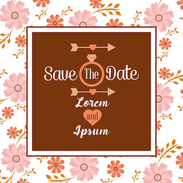 Save the date invitation wedding birthday anniversary vector save the date invitation wedding birthday anniversary premium vector stopboris Image collections