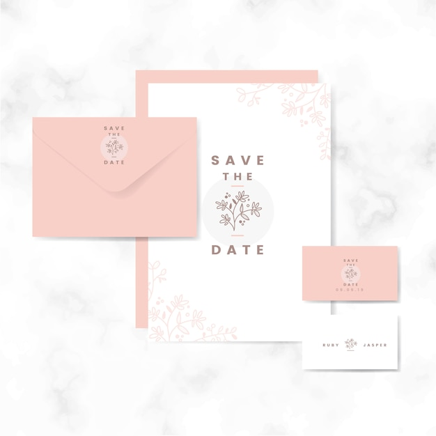 save the date layout set vector vector free download