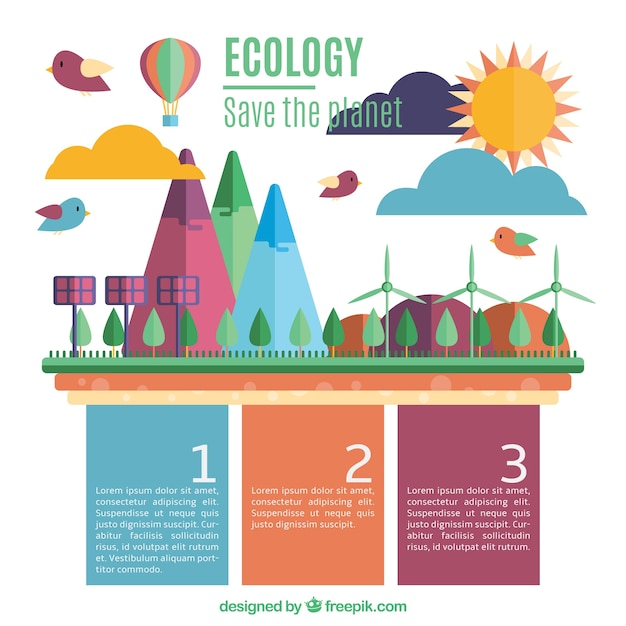 save the planet template vector free download