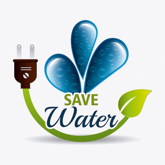 Save water ecology Free Vector