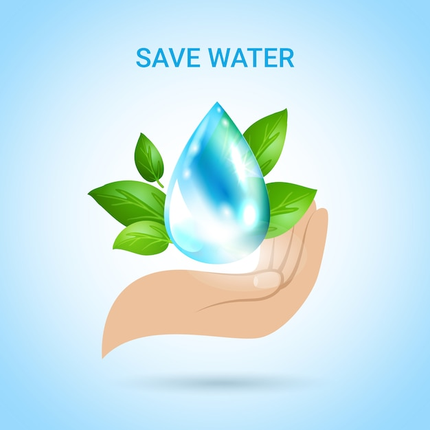 Save water Free Vector