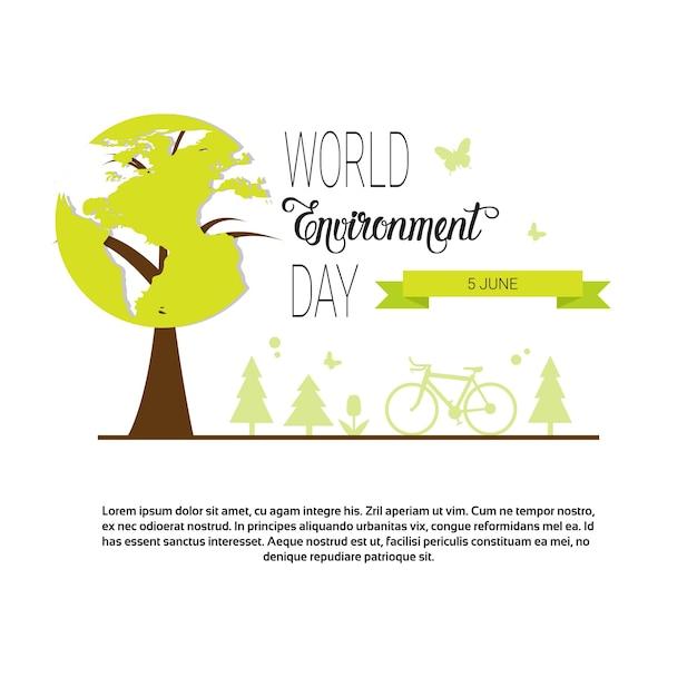 世界環境デーを救う Premiumベクター
