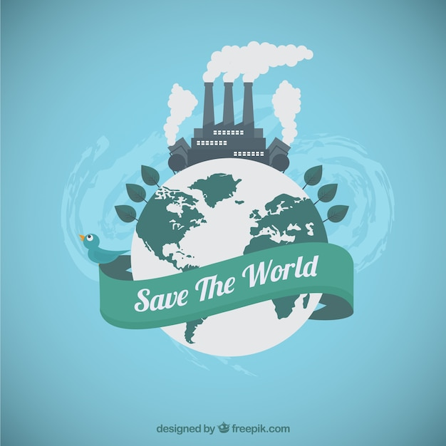 Save the world Free Vector