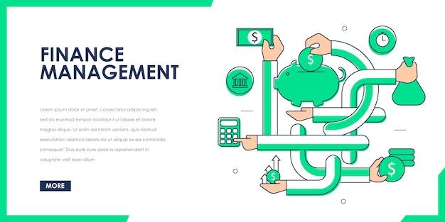 Saving and finance management Premium Vector
