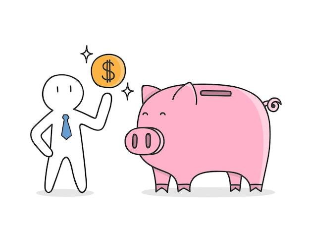 Saving money background Free Vector